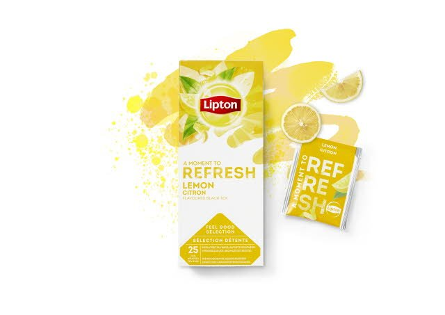 Lipton Lemon Tea, 6 x 25 breve -