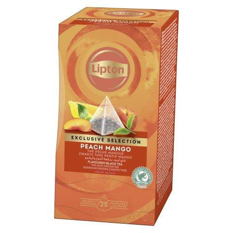 Lipton Peach & tropical Mango, pyramidete, 6 x 25 breve -