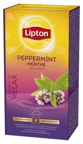 Lipton Peppermint, infusion, Classic te, 6 x 25 breve