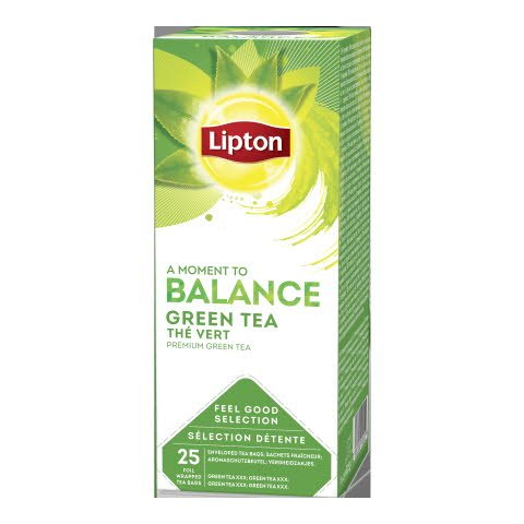 Lipton Pure Green Tea, 6 x 25 breve -