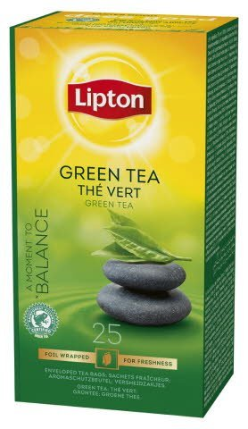 Lipton Pure Green Tea, Catering te, 6 x 25 breve