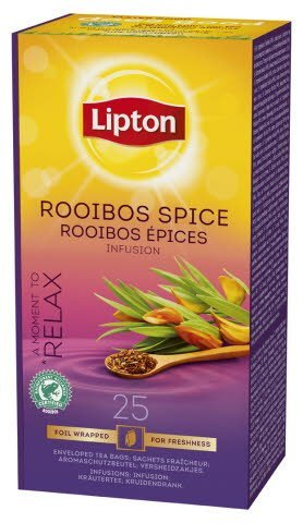 Lipton Rooibos Spice, Catering te, 6 x 25 breve