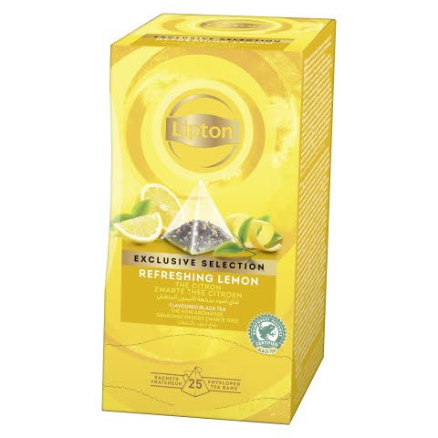 Lipton Rrefreshing Lemon, pyramidete, 6 x 25 breve