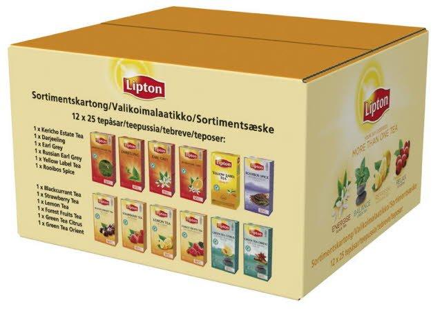 Lipton Sortimentskarton, Classic te, 12 x 25 breve