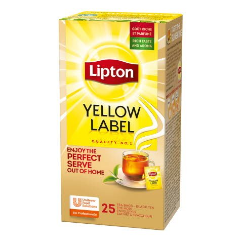 Lipton Yellow Label, Catering te, 6 x 25 breve