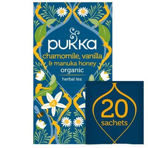 Pukka Chamomile, Vanilla & Manuka Honey ØKO 4x20 breve