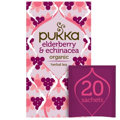 Pukka Elderberry Echinacea ØKO 4x20 breve