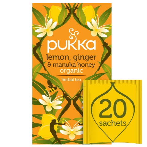 Pukka Lemon, Ginger & Honey ØKO 4x20 breve -