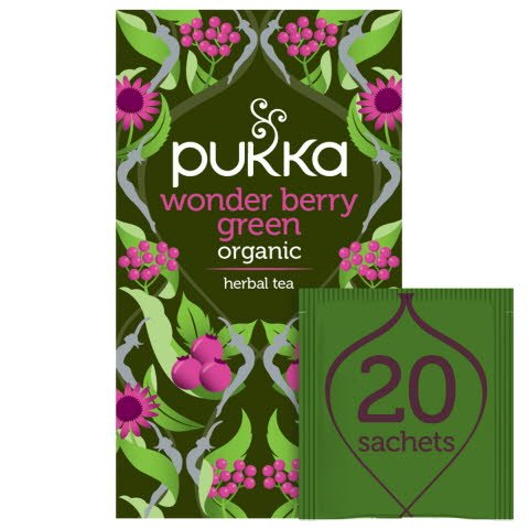 Pukka Wonder Berry Green ØKO 4x20 breve