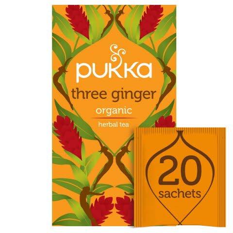 PukkaThree Ginger ØKO 4x20 breve