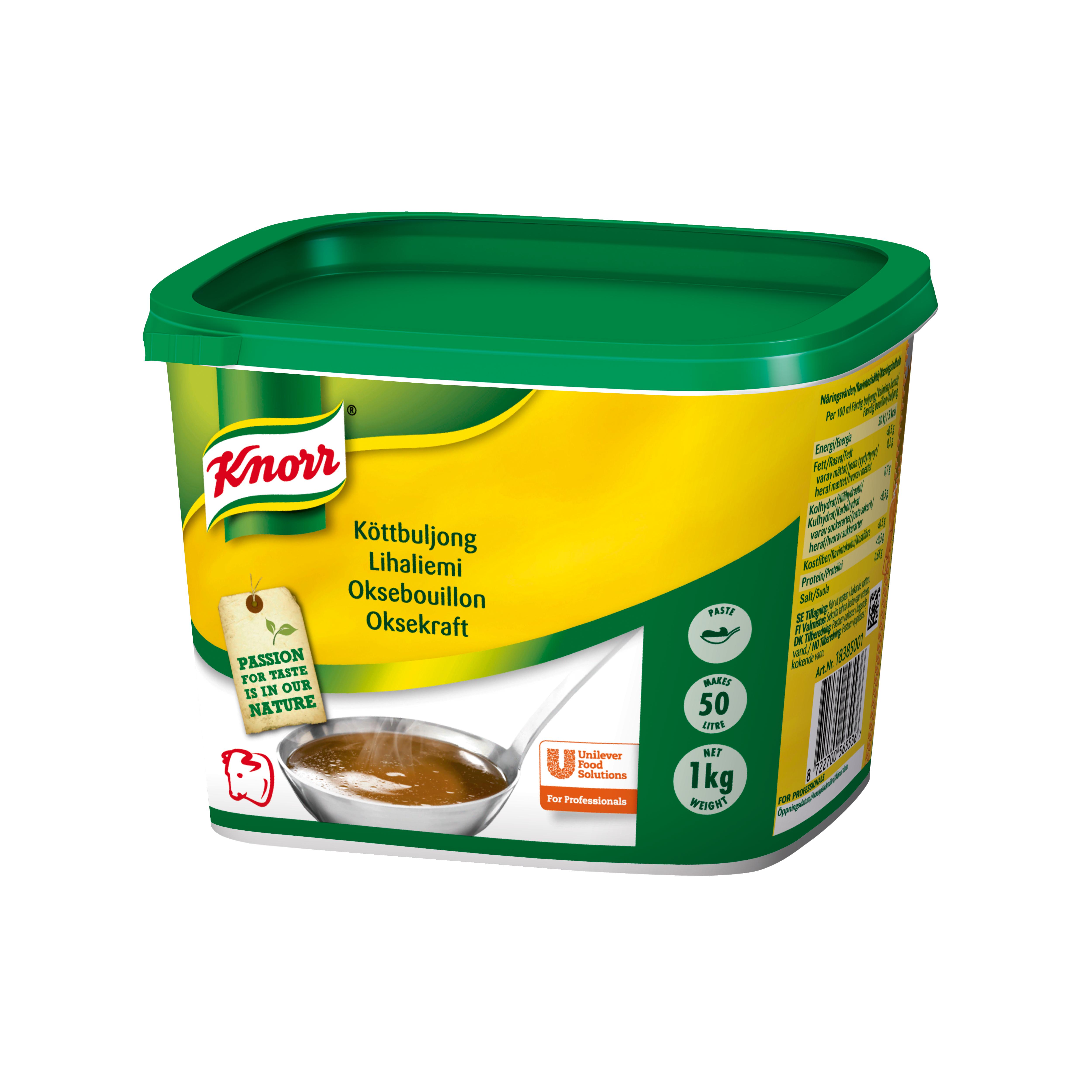 Knorr Oksebouillon, pasta 1 kg / 50 L