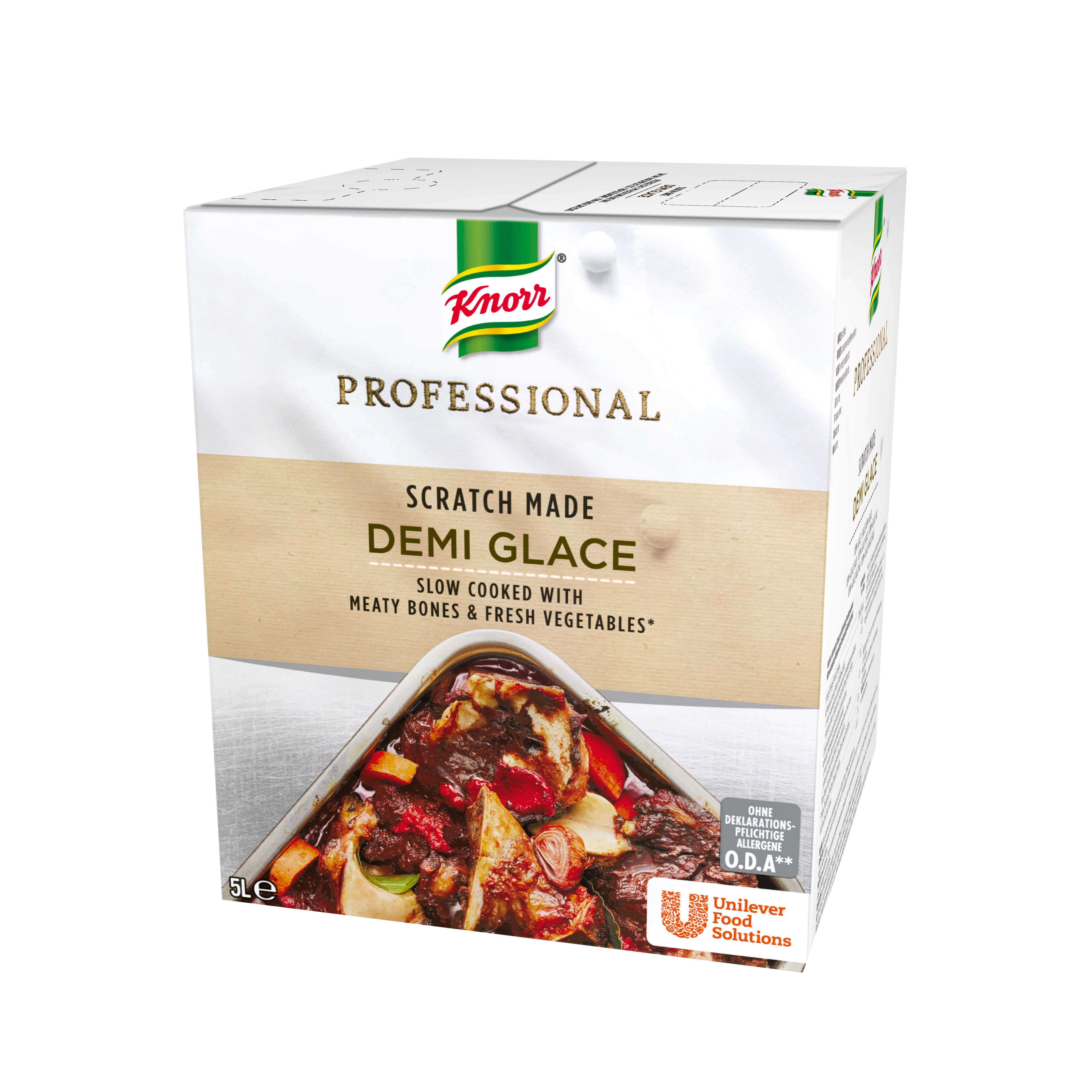 Knorr Professional Demi Glace, 5 liter - Tilberedt fra bunden med brune kødfyldte ben, grøntsager og urter