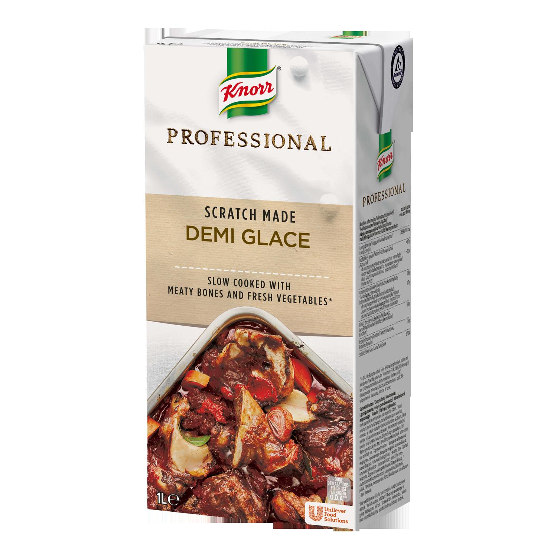 Knorr Professional Demi Glace, 8 x 1L - Tilberedt fra bunden med brune kødfyldte ben, urter og grøntsager