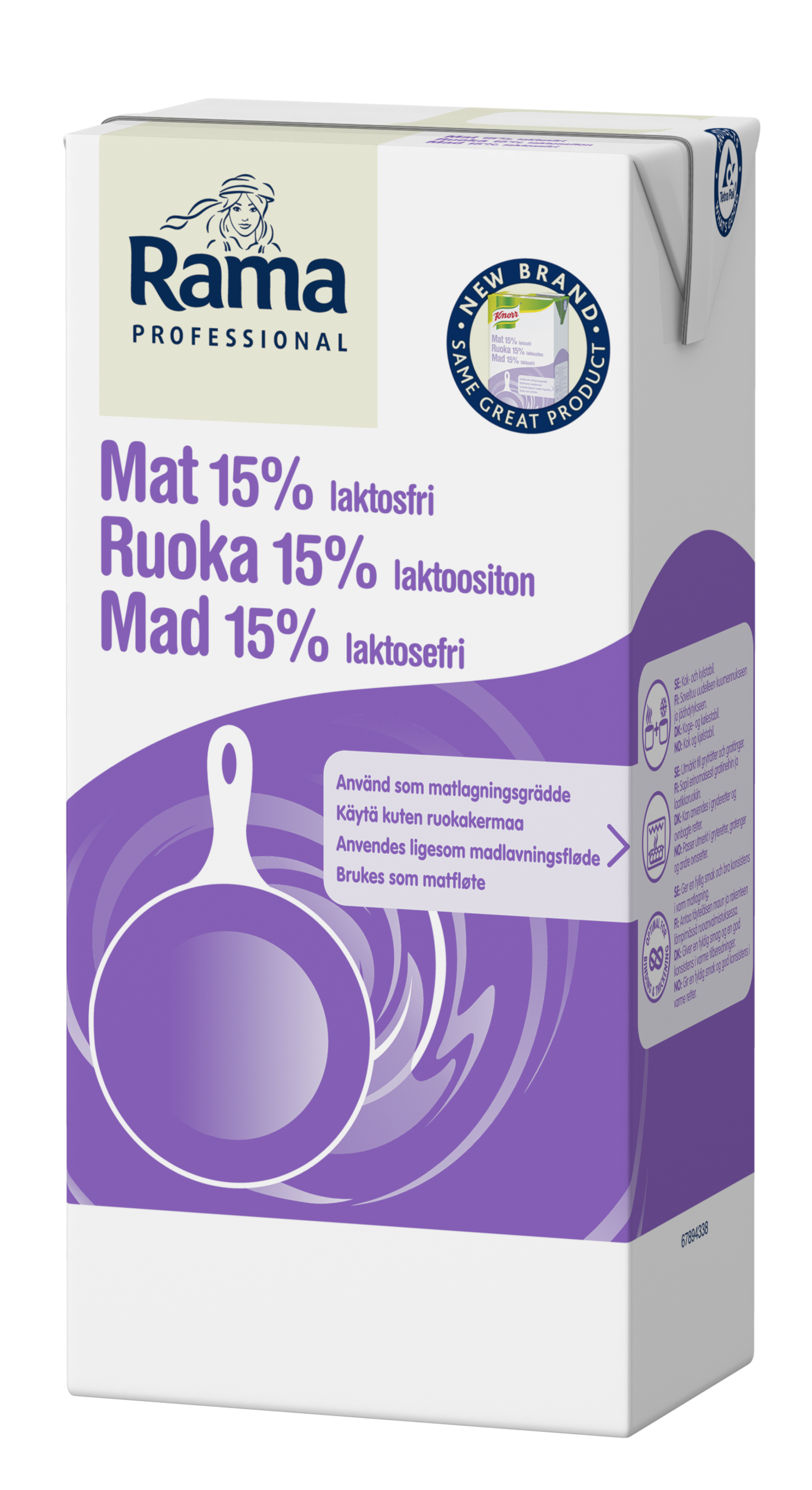 Rama Mad 15% laktosefri, 1 L - Rama Mad 15% holder strukturen fra start til slut i alle varme retter