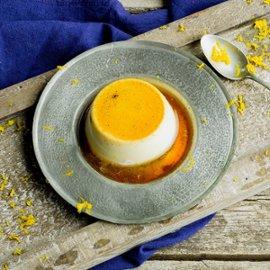 Creme Caramel - Panna Cotta med appelsin