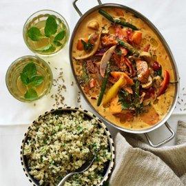 Mchuzi wa biringanya-grønsags masala