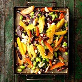 Salada de Feijao - Bønnesalat med gulerødder og koriander