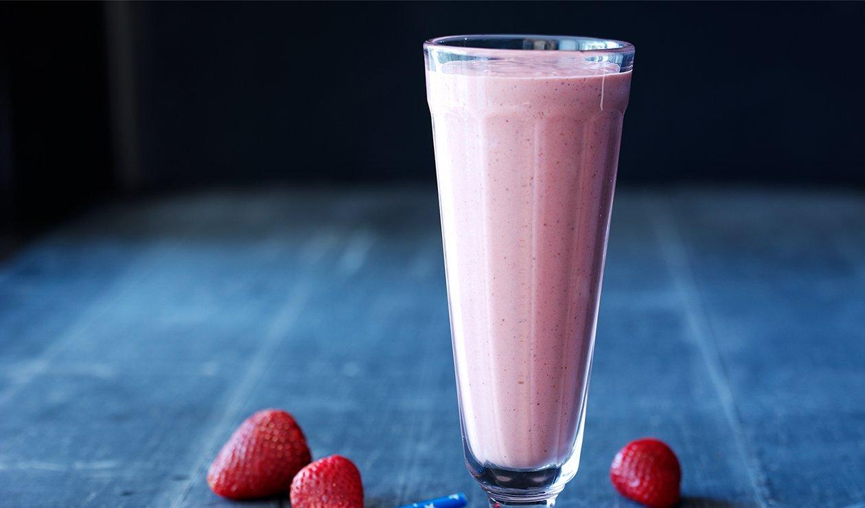 Banan/Jordbær shakes (energitæt)