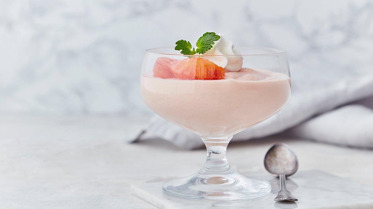 Enkel mousse af blodappelsin