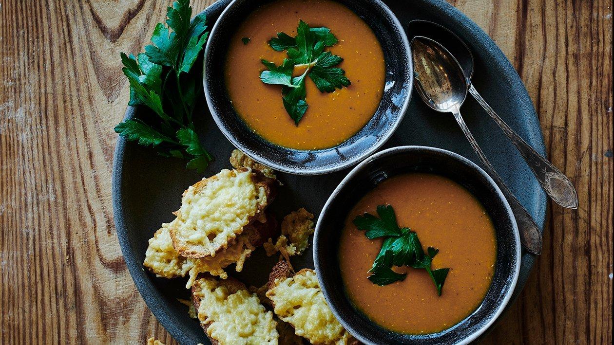 Enkelt krydret linsesuppe
