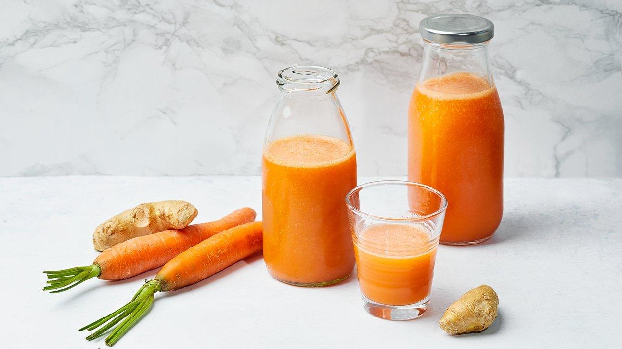 Gulerods- og appelsinsmoothie med chili