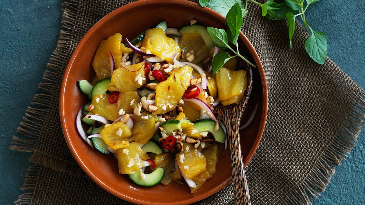 Karameliseret ananassalat