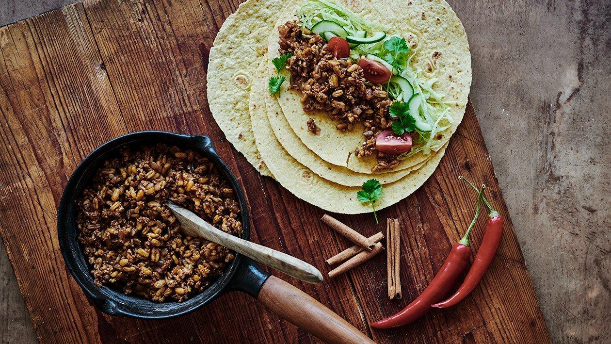 Tortillas med kylling og kamuthvede