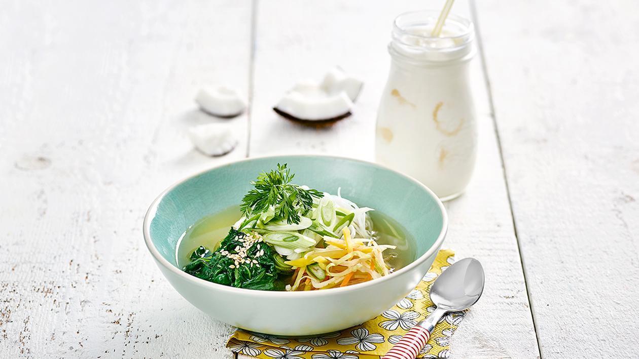 Asien Suppe Pot mit Einlage nach Wahl