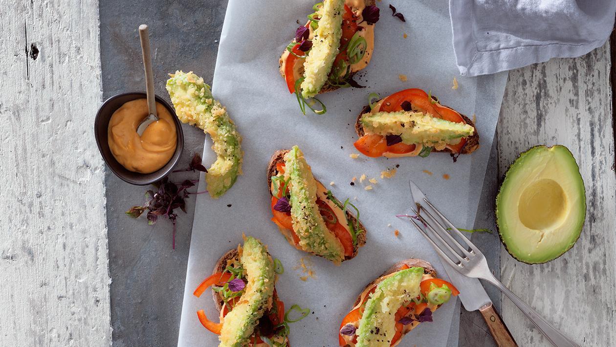 Frittierte Avocados mit Paprika-Mayonnaise