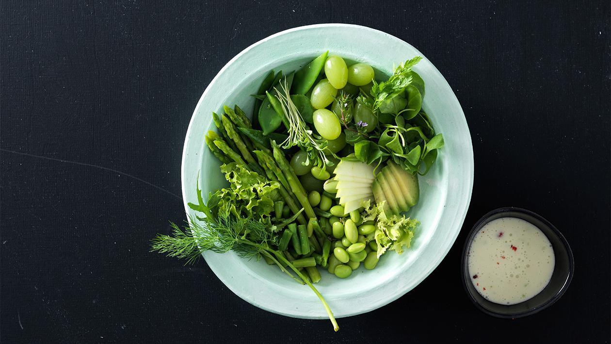 Grüne Buddha Bowl