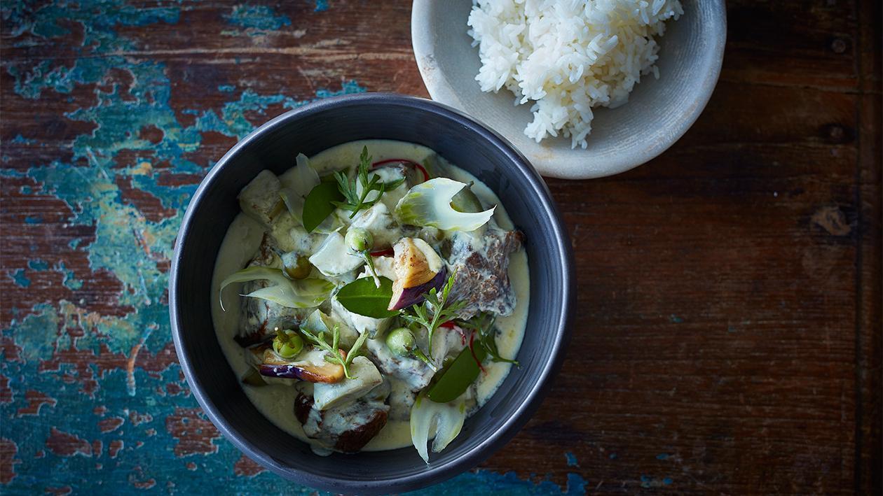 Grünes Rindfleisch Curry