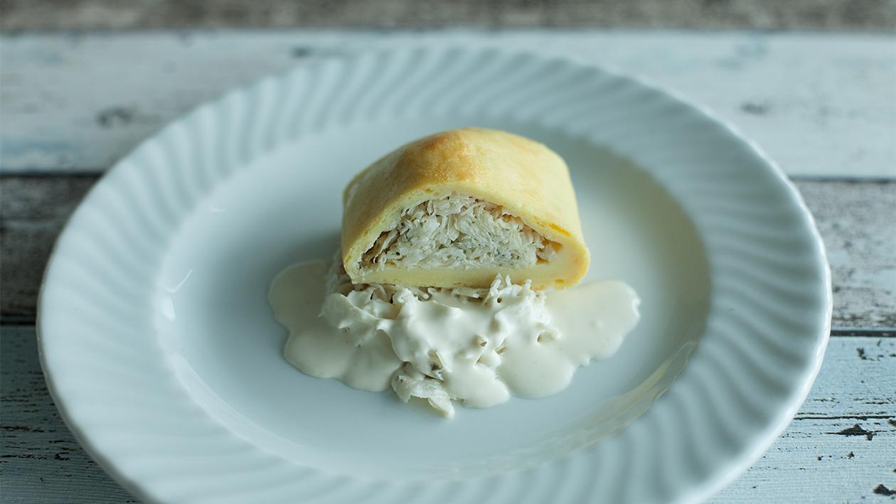 Kartoffelroulade mit Rahm Sauerkraut