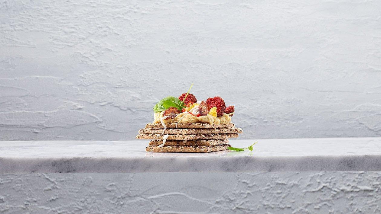 Knäckebrot mit Falafel