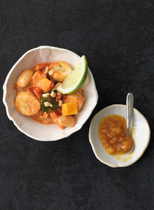 Kokos-Curry mit frischer Mango