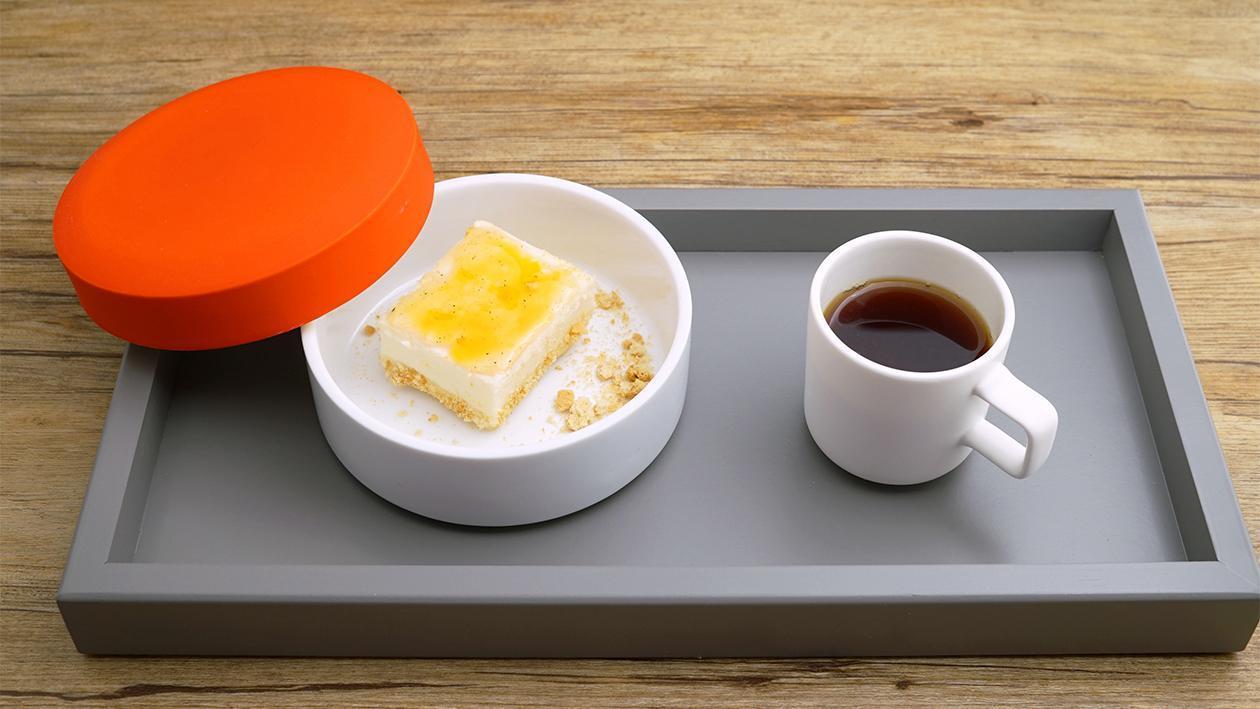 Lemon Coconut Cheesecake mit Tee Caramel