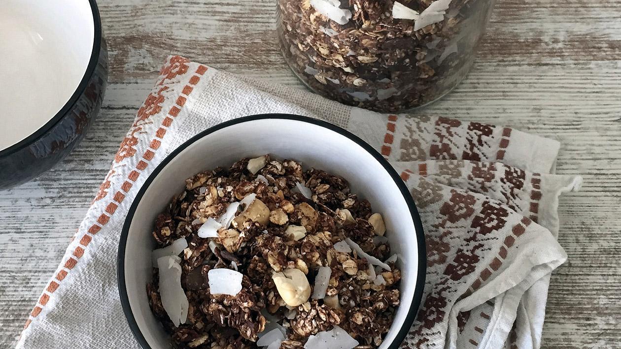 Schokoladen Granola Vegan