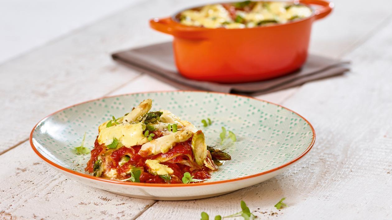Spargel-Schinken-Lasagne