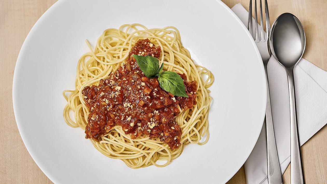 Vegane Spaghetti Bologneser Art, allergenfrei