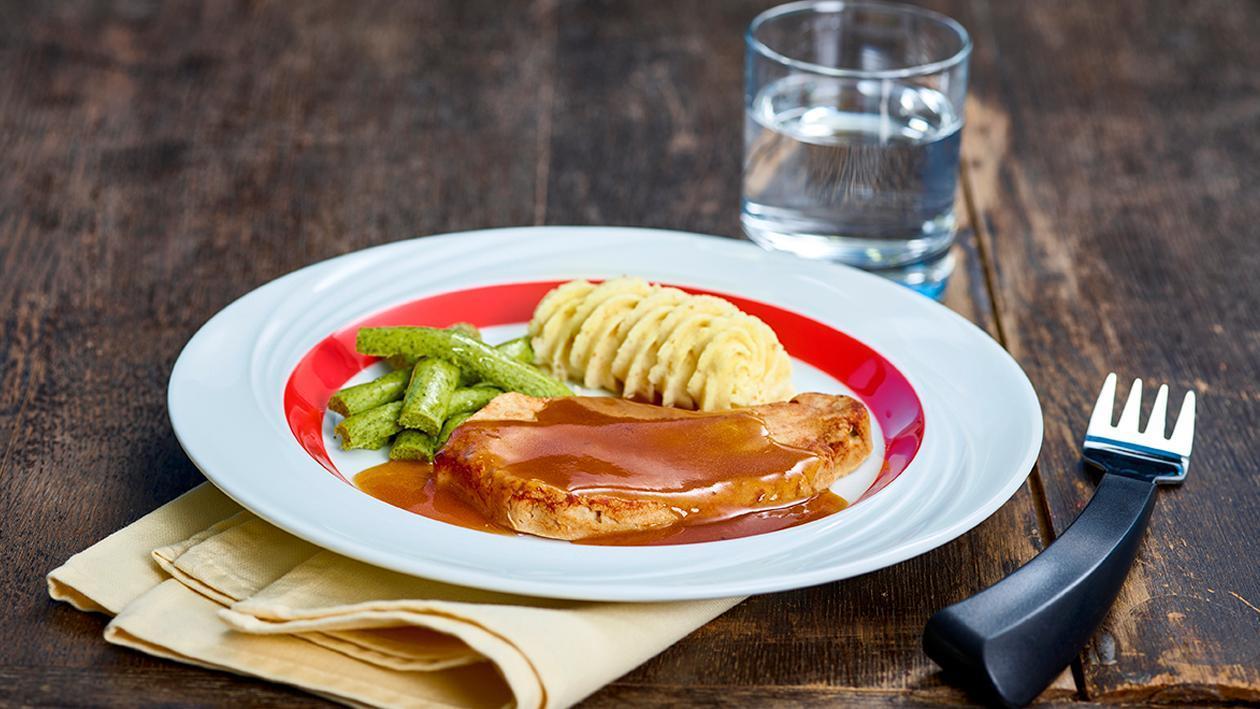 Zwiebelrostbraten - Pürierte Kost