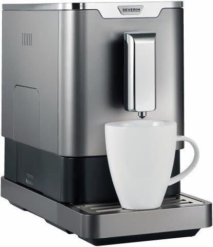 Kaffeevollautomat KV 8090 mit Edelstahl-Kegelmahlwerk, SeverinEspresso, Kaffee Crema und Heißwasser, 1350 W