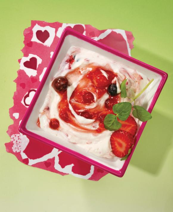 Beeren-Quark-Dessert