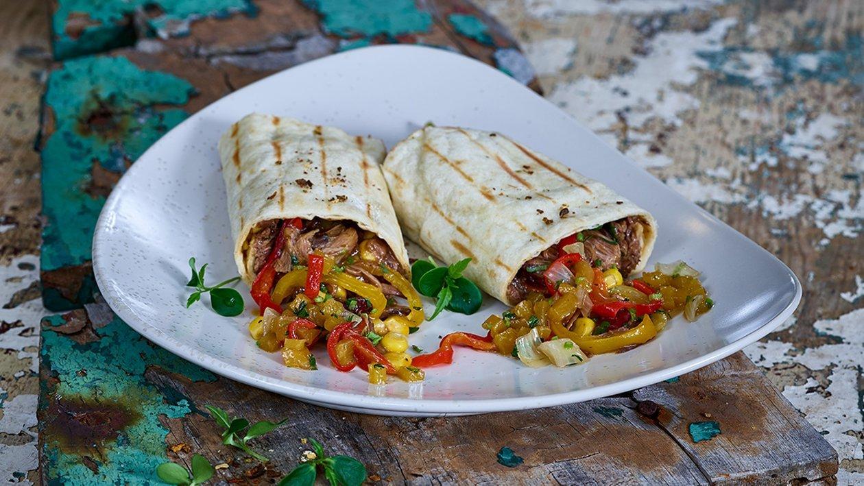 Burritos Rindfleisch mit süss saurer Salsa