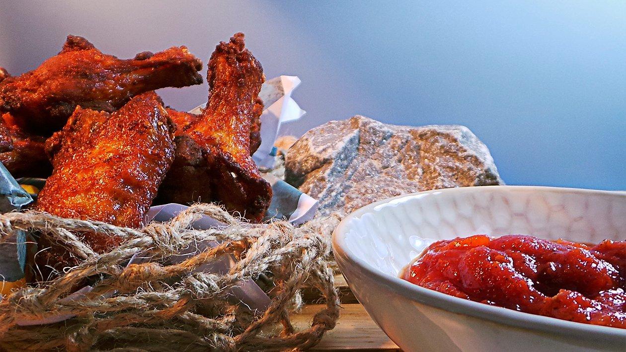 Cajun Chicken Wings mit würziger Cajun Sauce