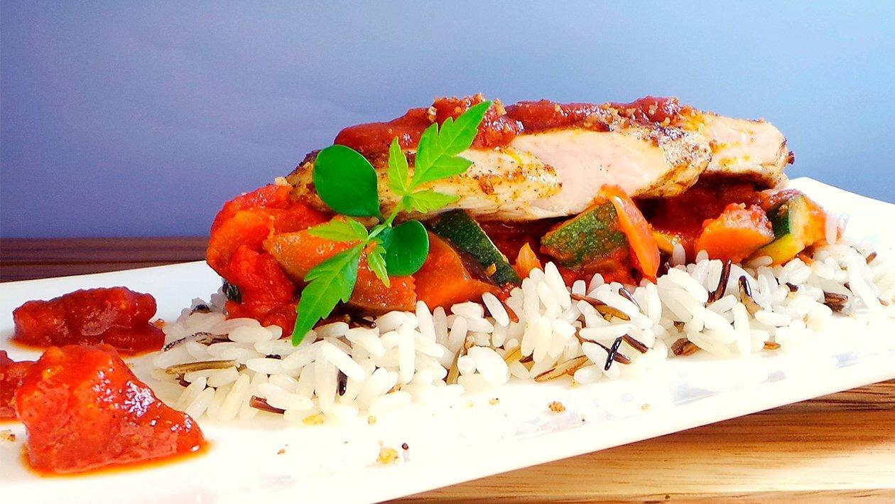 Cajun Chickenbreast mit Wildem Reis