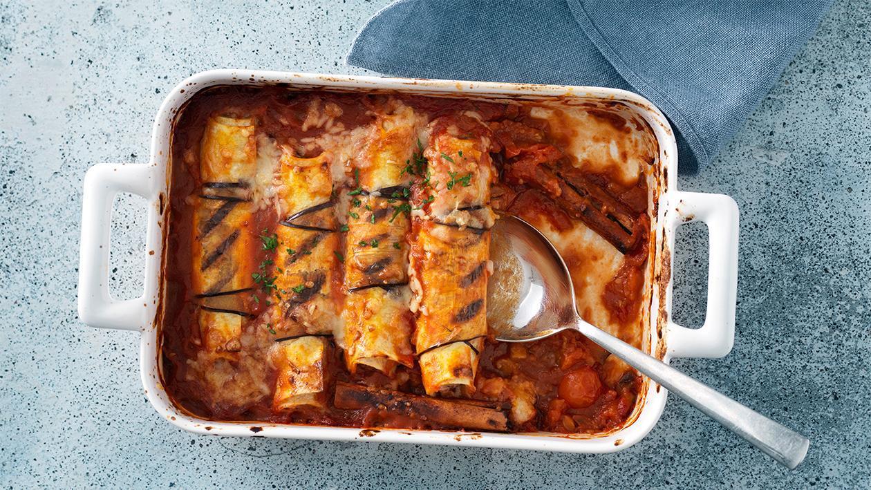 Cannelloni mit Tomaten-Zimt-Sauce