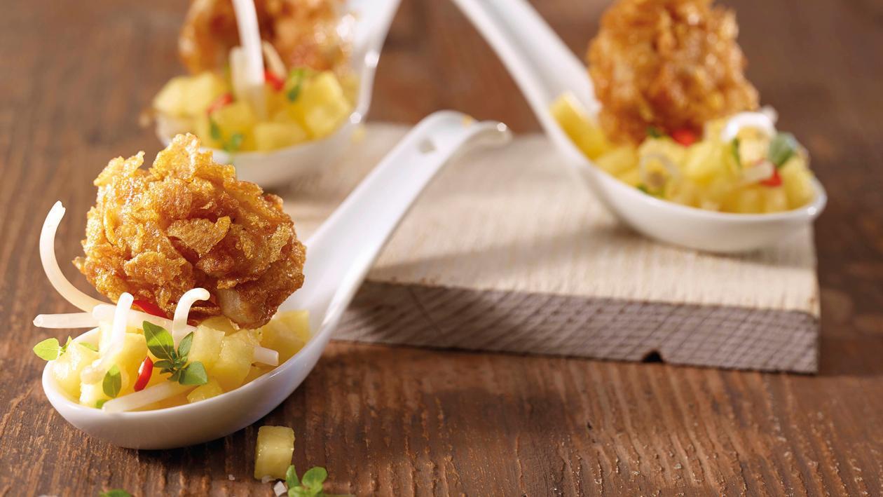 Crispy Chicken mit Ananas-Salat