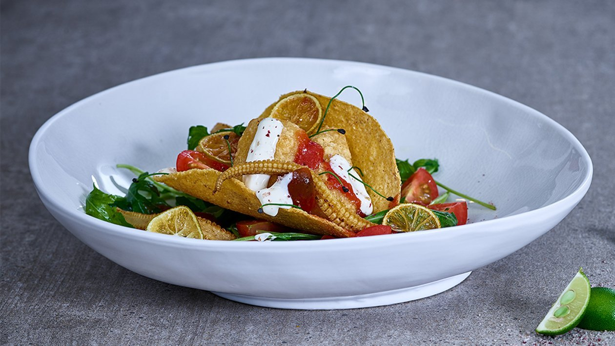 Crispy Fish Taco mit Zitronendressing