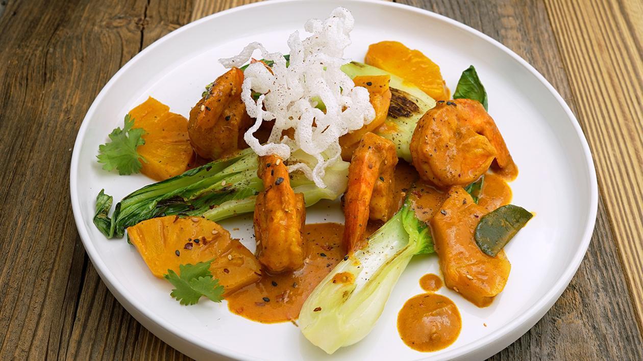 Gelbes Garnelen-Ananas-Curry