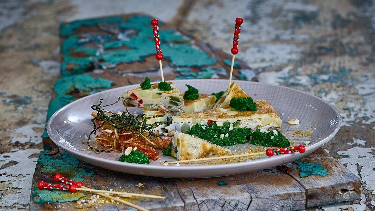 Gemüse Frittata mit Salsa Verde