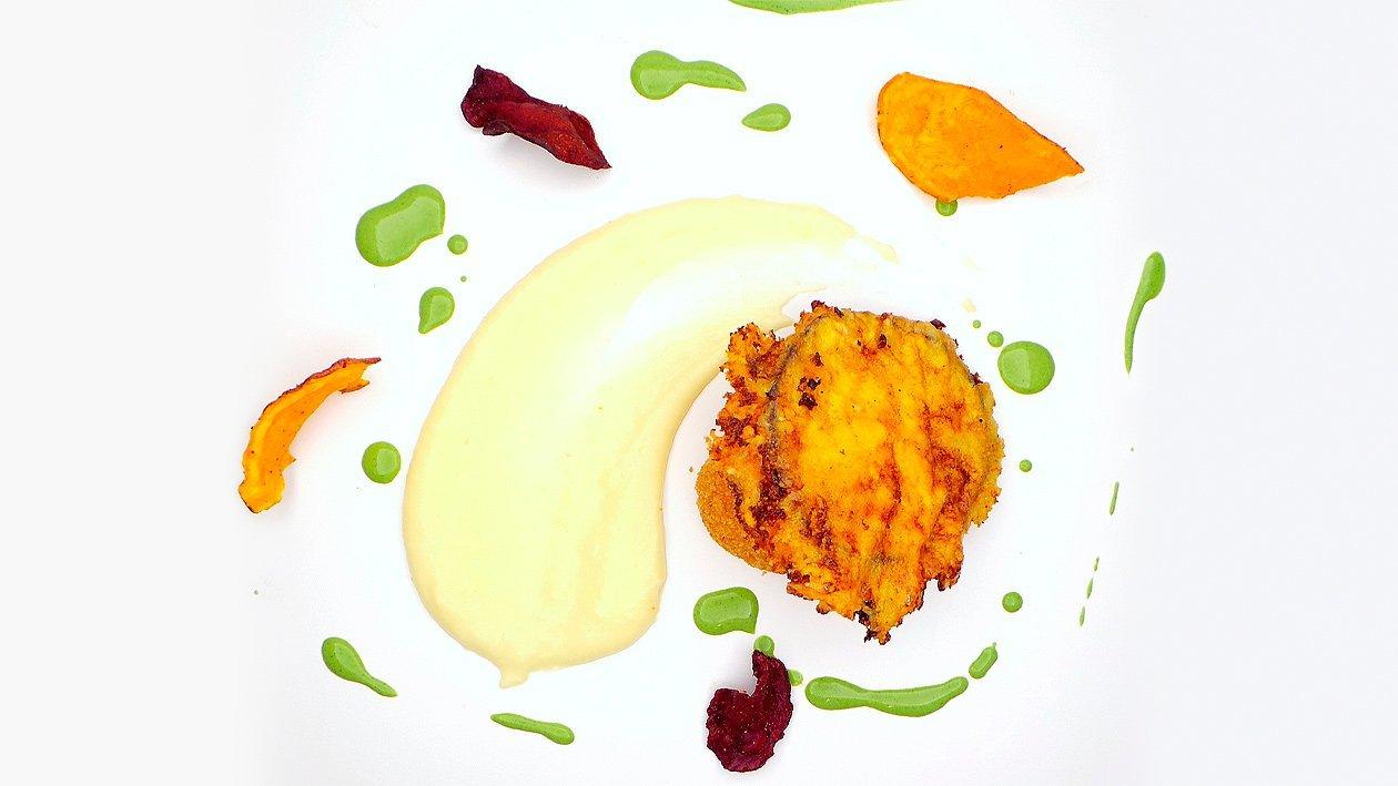 Grießknödel - Pastinake - Aubergine - Petersilie